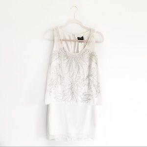 NWT Laundry by Shelli Segal White Beaded Dress